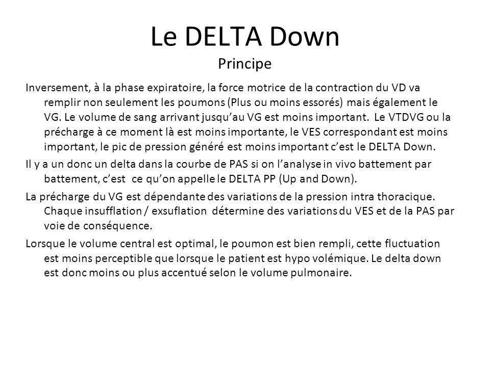 Le DELTA Down Principe