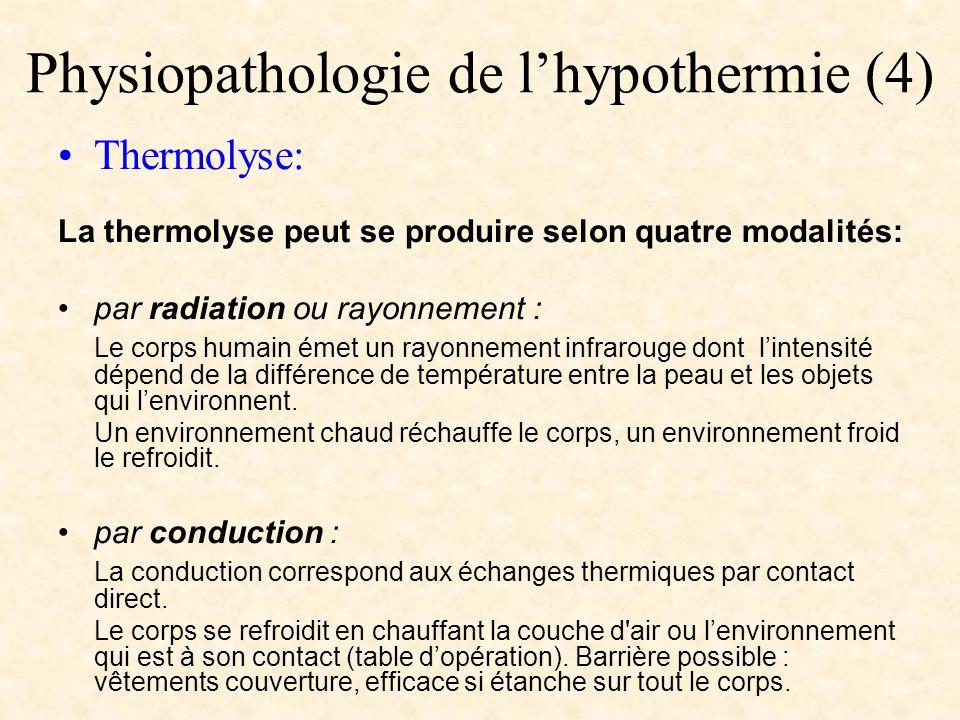 Physiopathologie de l'hypothermie (4)