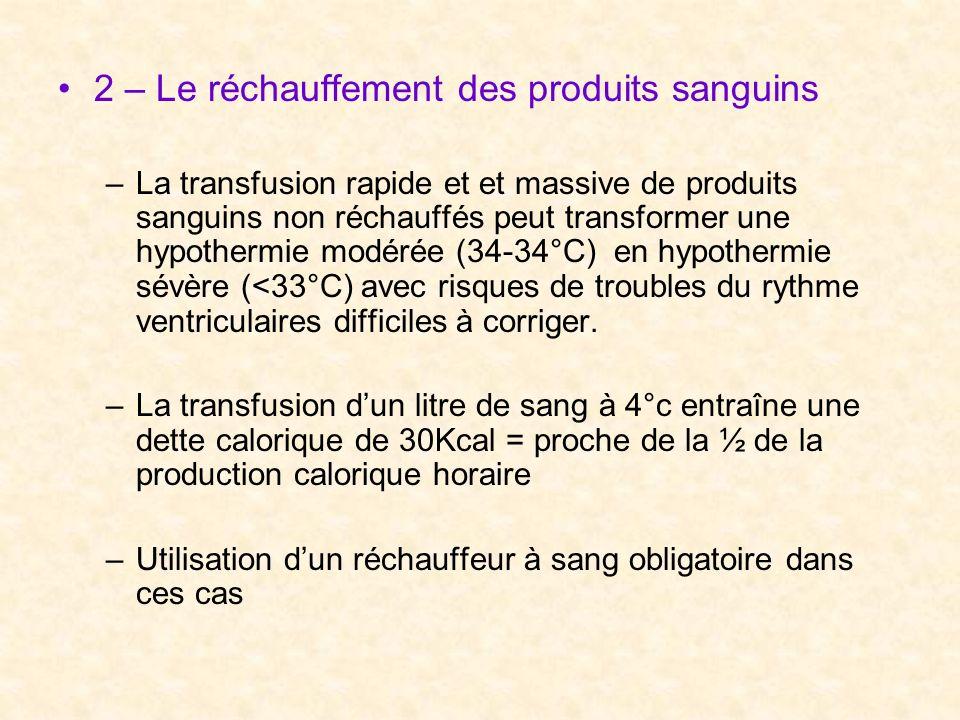 2 – Le réchauffement des produits sanguins
