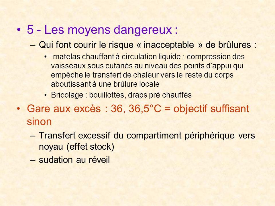 5 - Les moyens dangereux :