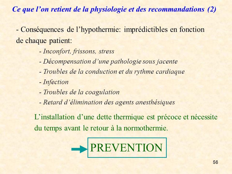 Ce que l'on retient de la physiologie et des recommandations (2)