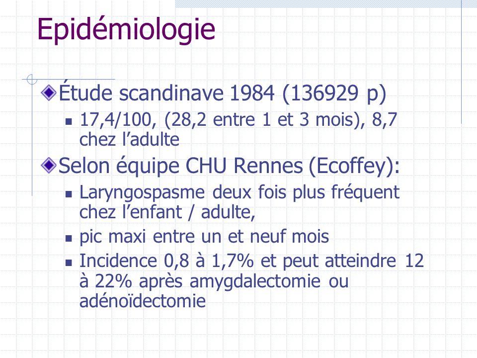 Epidémiologie Étude scandinave 1984 (136929 p)