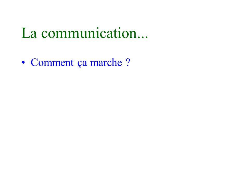 La communication... Comment ça marche