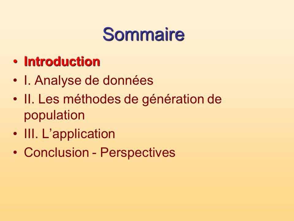 Sommaire Introduction I. Analyse de données
