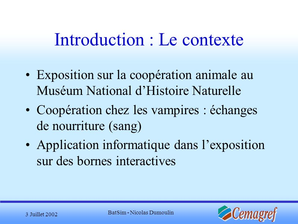 Introduction : Le contexte