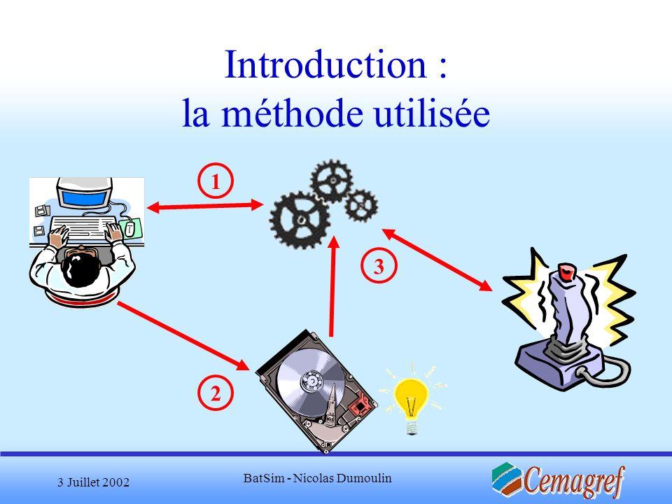 Introduction : la méthode utilisée