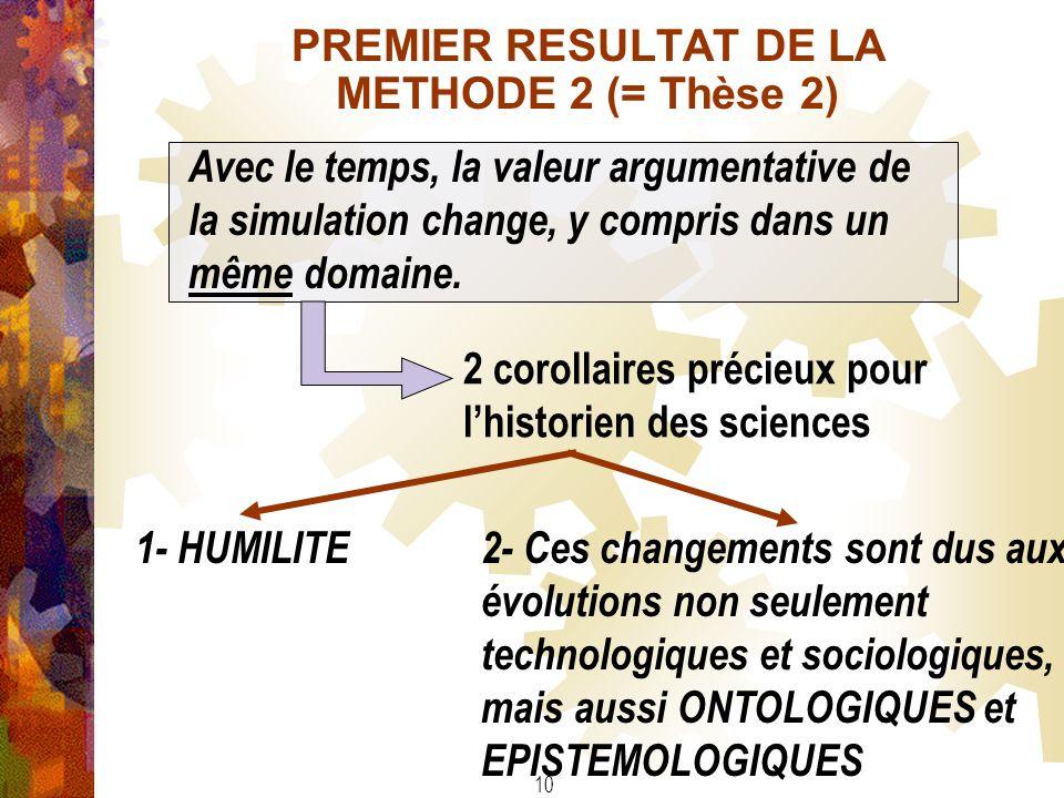 PREMIER RESULTAT DE LA METHODE 2 (= Thèse 2)