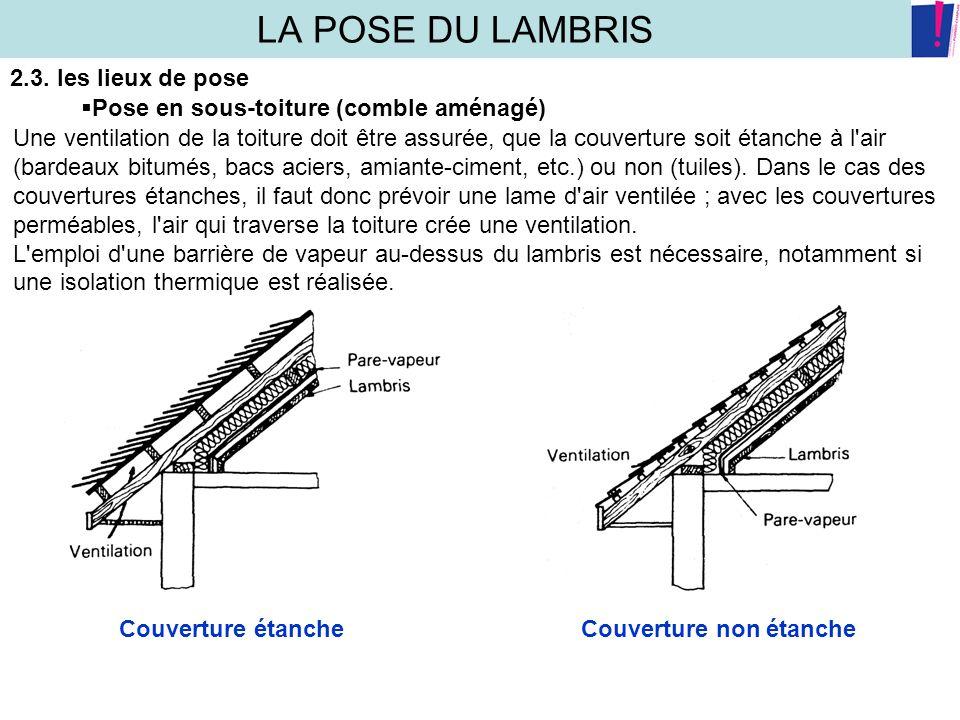 La pose du lambris 1 caracteristiques des lames de lambris - Pose lambris bois sans tasseaux ...