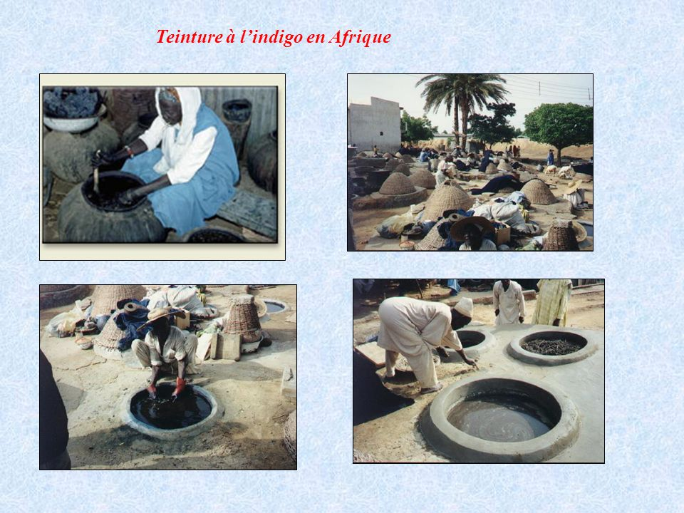 Teinture à l'indigo en Afrique