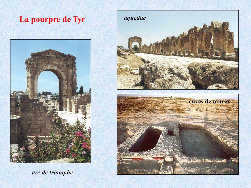 La pourpre de Tyr aqueduc cuves de murex arc de triomphe