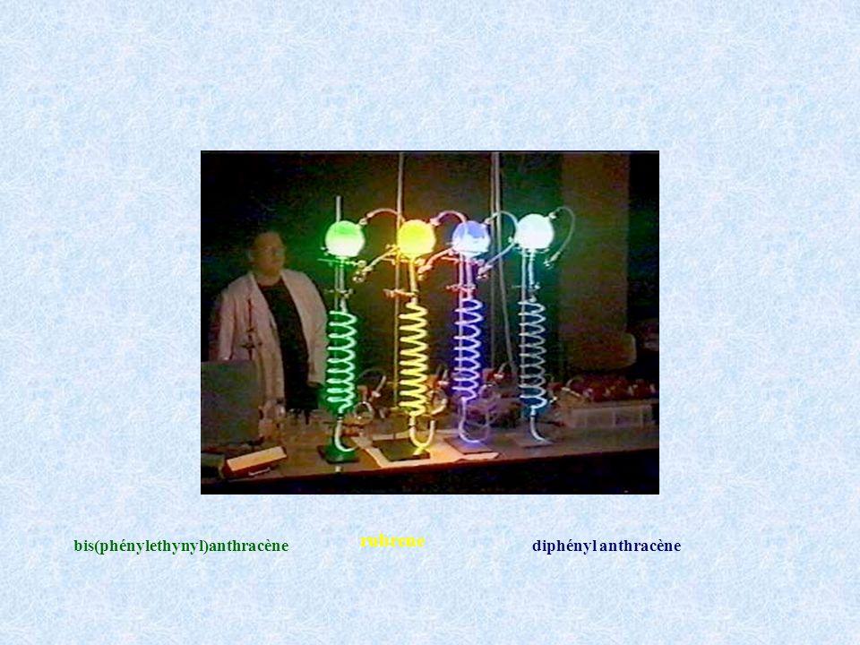 rubrene bis(phénylethynyl)anthracène diphényl anthracène