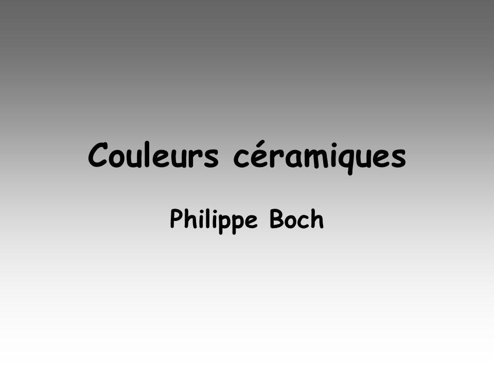Couleurs céramiques Philippe Boch