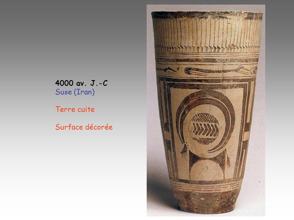 4000 av. J.-C Suse (Iran) Terre cuite Surface décorée