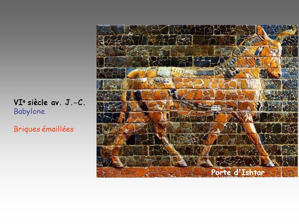 VIe siècle av. J.-C. Babylone Briques émaillées Porte d Ishtar