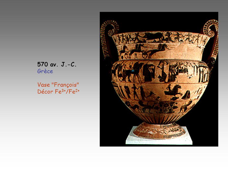 570 av. J.-C. Grèce Vase François Décor Fe3+/Fe2+