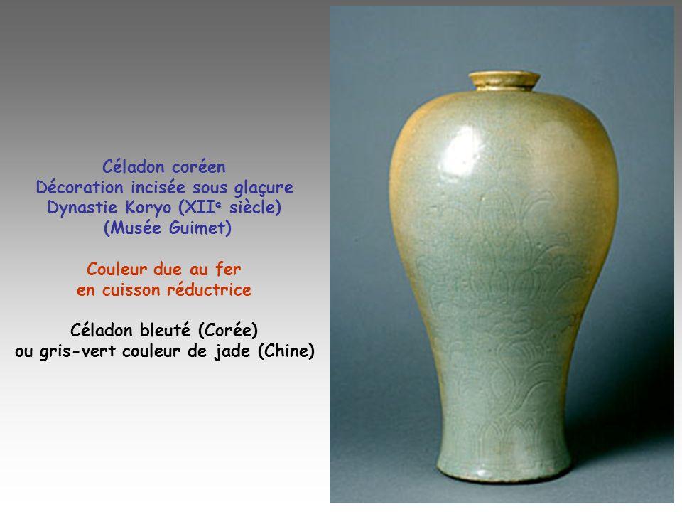 Décoration incisée sous glaçure Dynastie Koryo (XIIe siècle)