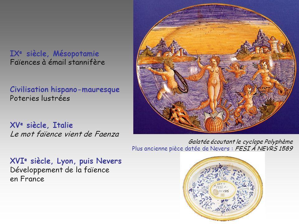 IXe siècle, Mésopotamie Faïences à émail stannifère