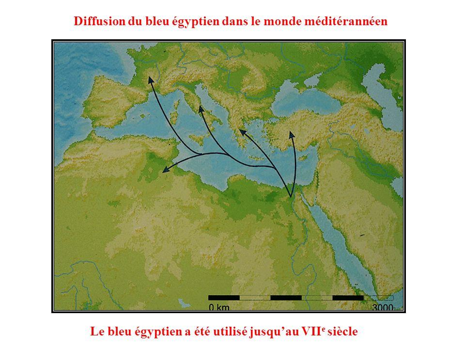 Diffusion du bleu égyptien dans le monde méditérannéen