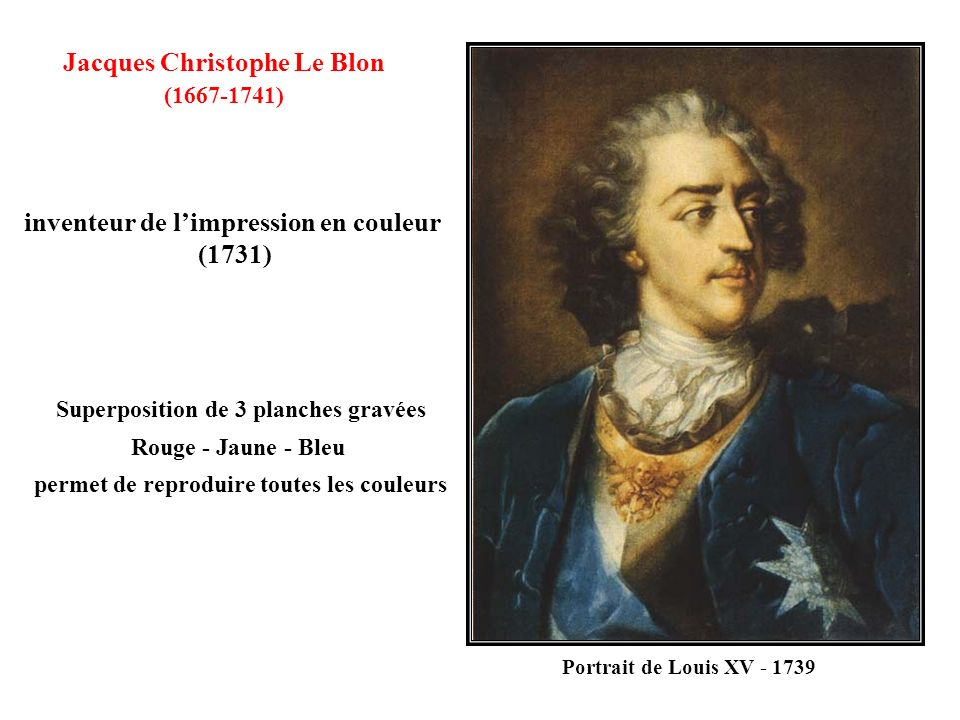 Jacques Christophe Le Blon inventeur de l'impression en couleur (1731)