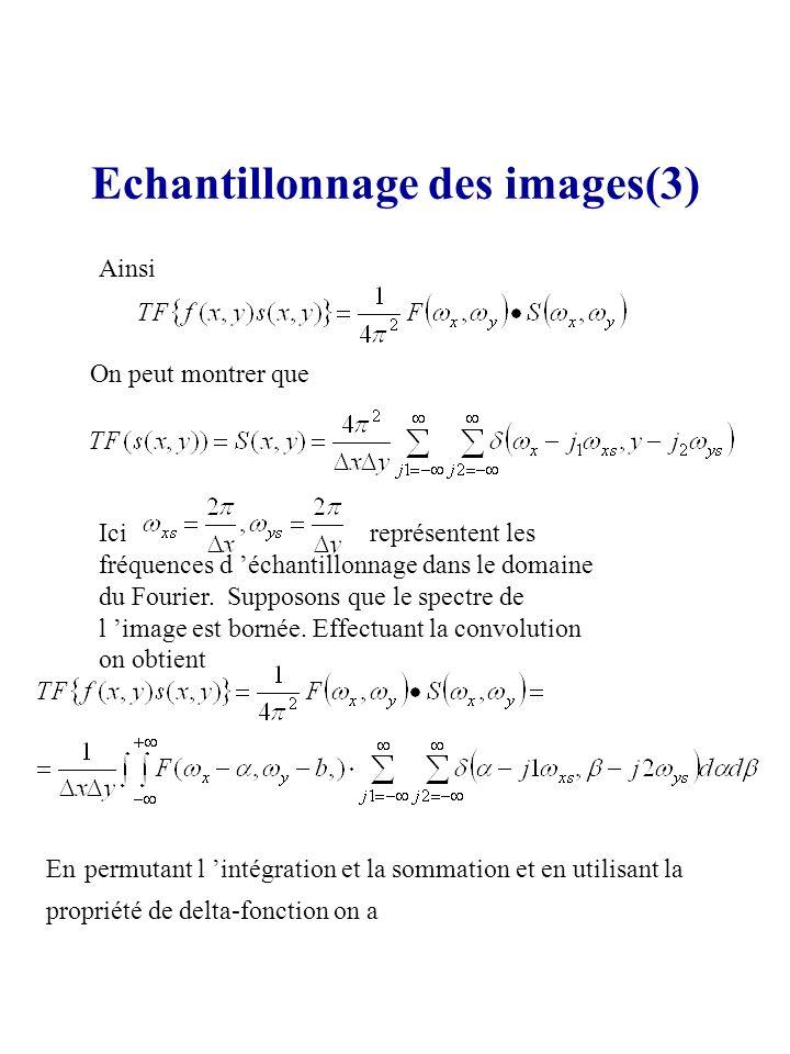 Echantillonnage des images(3)