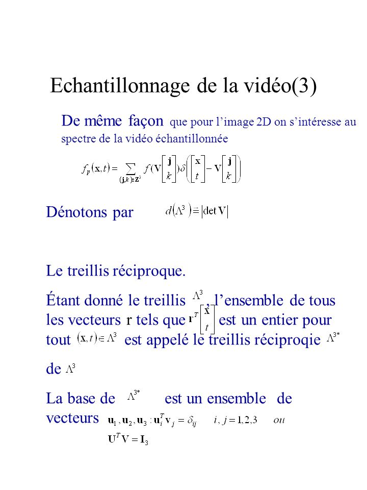 Echantillonnage de la vidéo(3)