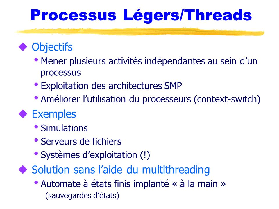 Processus Légers/Threads