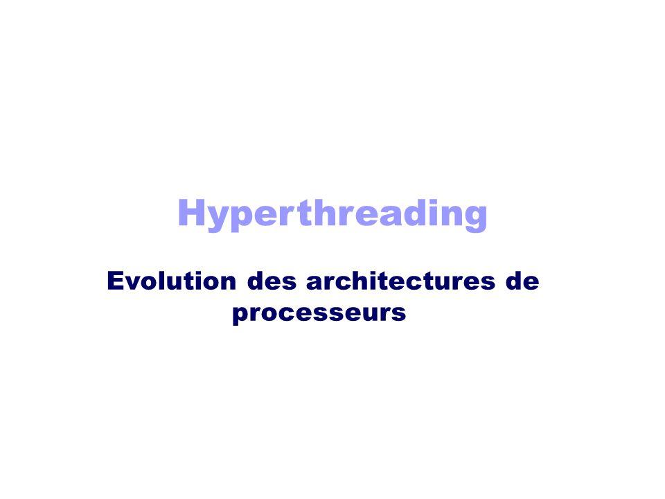 Evolution des architectures de processeurs