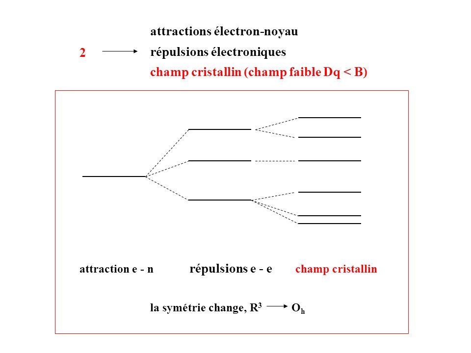 attractions électron-noyau répulsions électroniques