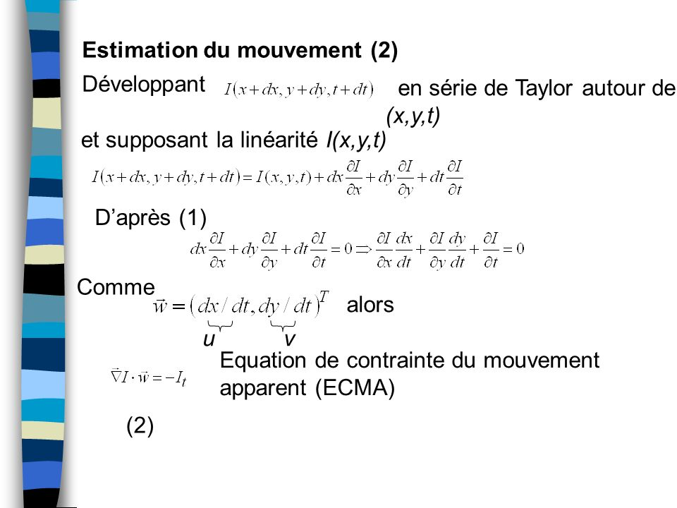 Estimation du mouvement (2)