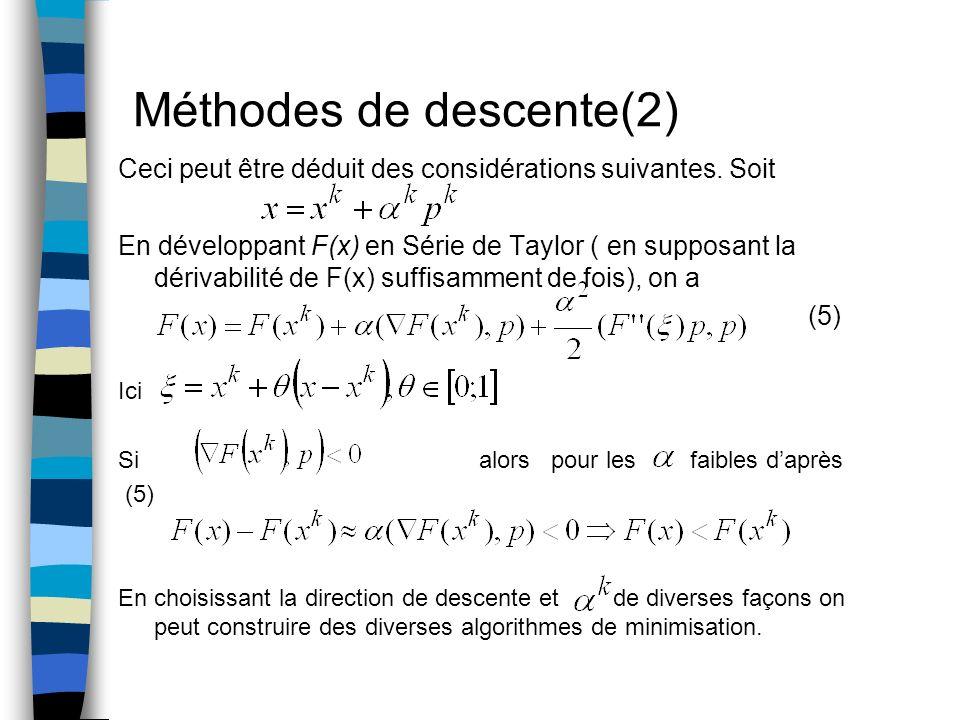 Méthodes de descente(2)