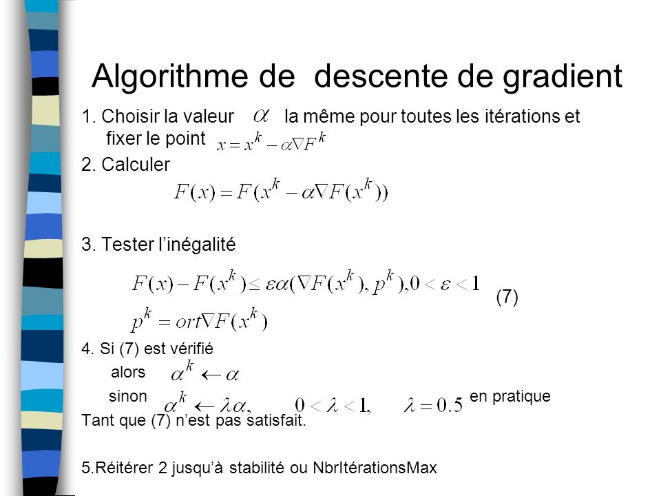 Algorithme de descente de gradient