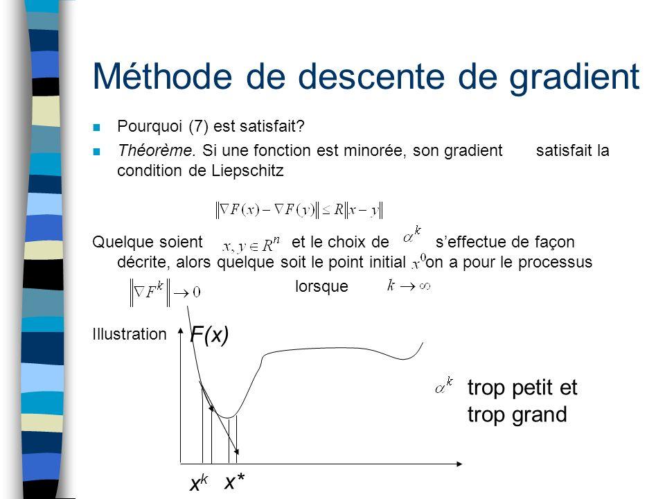 Méthode de descente de gradient