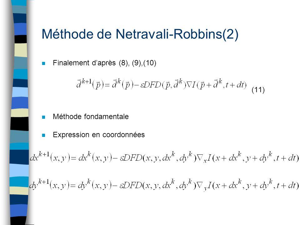 Méthode de Netravali-Robbins(2)