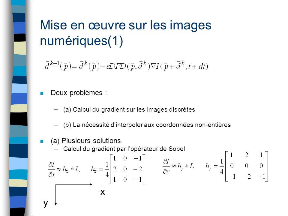 Mise en œuvre sur les images numériques(1)