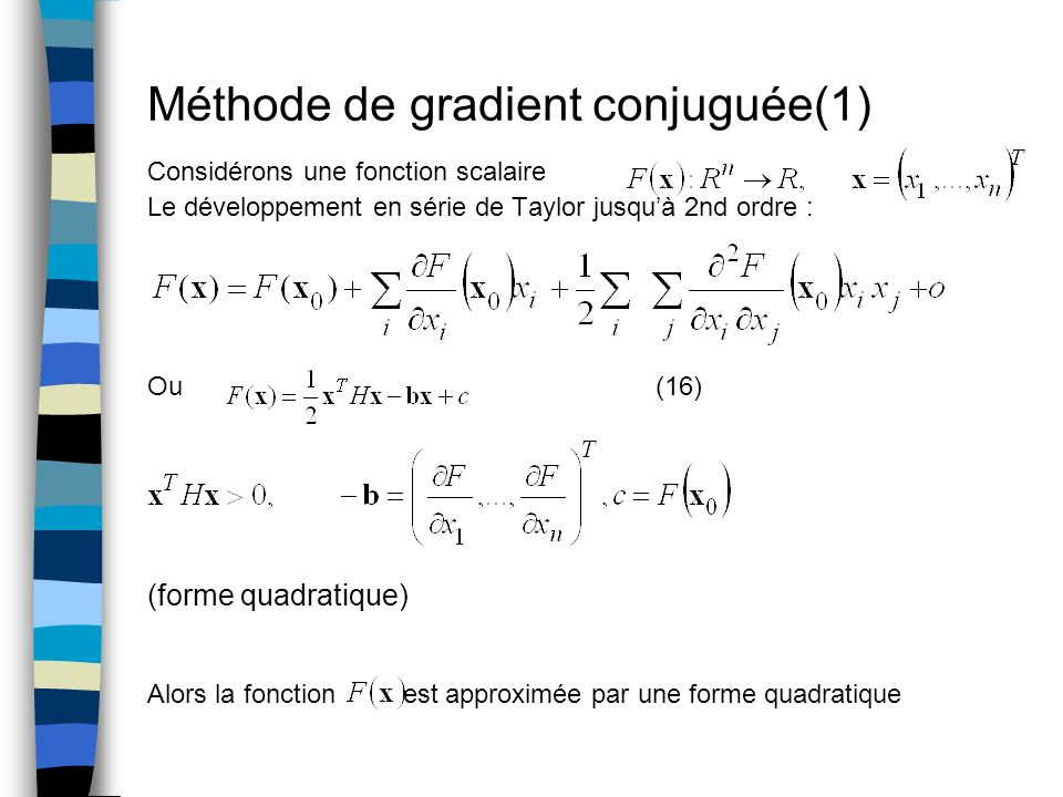 Méthode de gradient conjuguée(1)