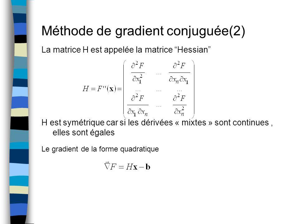 Méthode de gradient conjuguée(2)