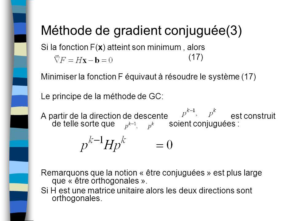 Méthode de gradient conjuguée(3)