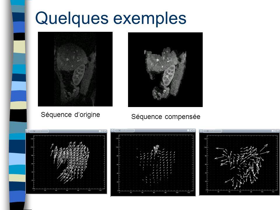 Quelques exemples Séquence d'origine Séquence compensée