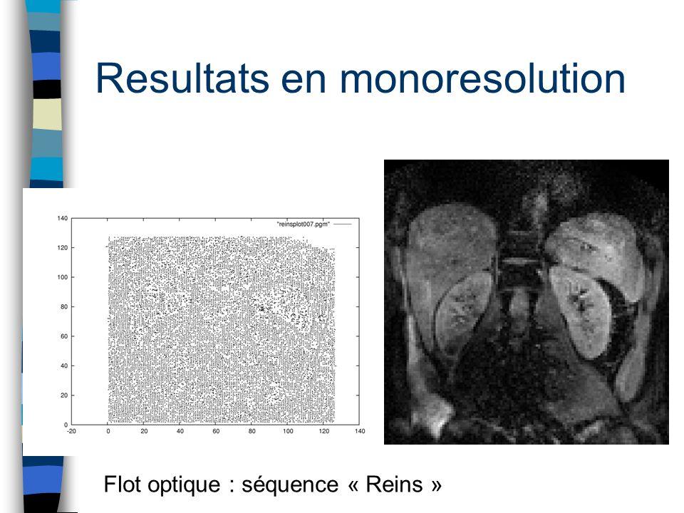 Resultats en monoresolution