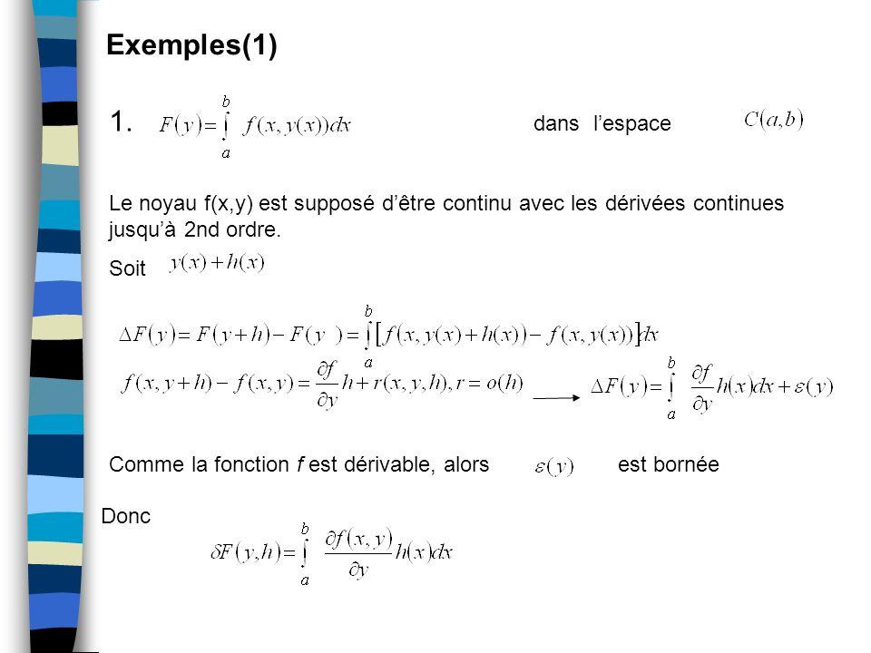 Exemples(1) 1. dans l'espace