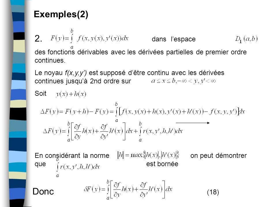 Exemples(2) 2. dans l'espace Donc (18)