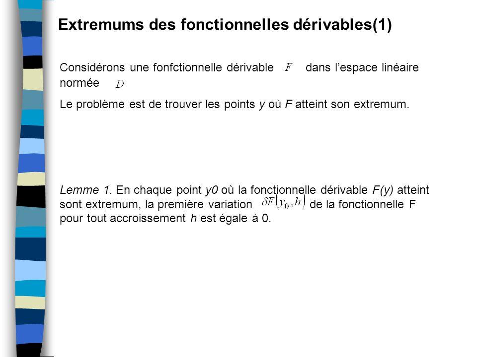 Extremums des fonctionnelles dérivables(1)