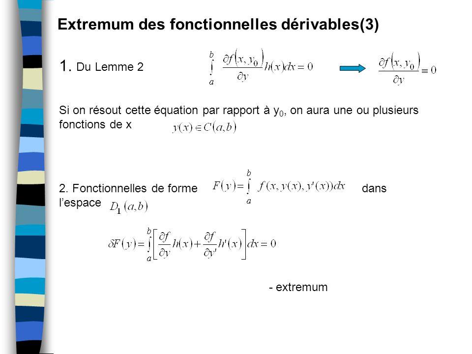 Extremum des fonctionnelles dérivables(3)