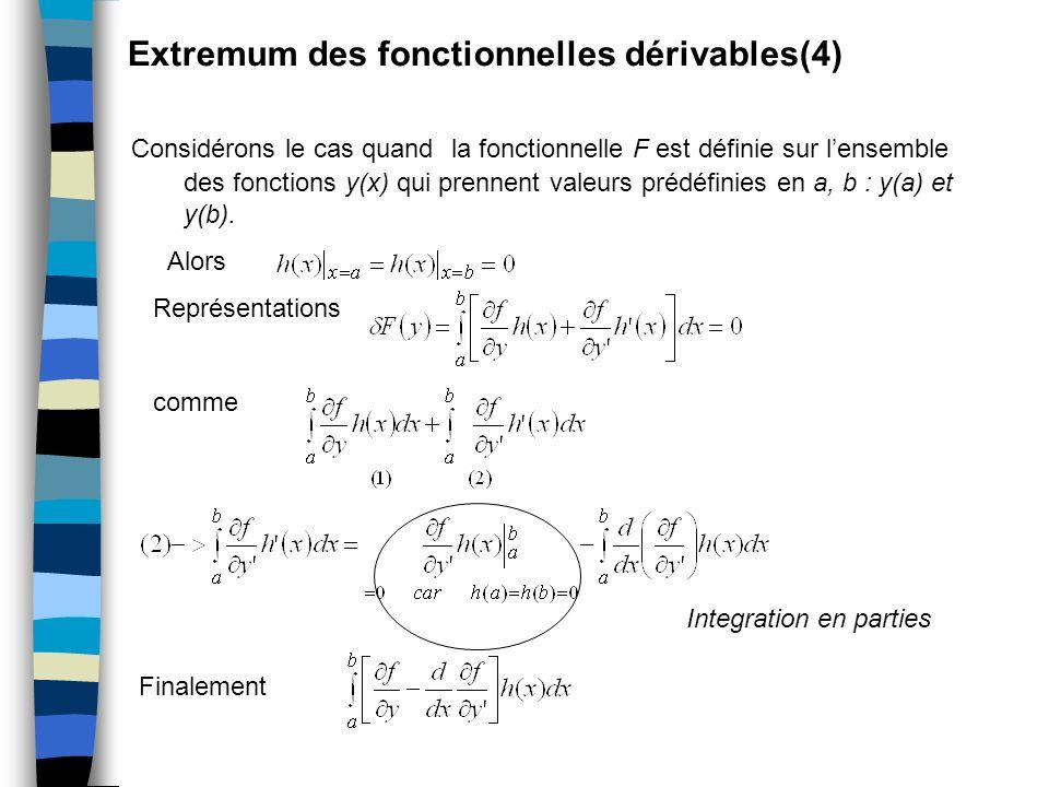 Extremum des fonctionnelles dérivables(4)