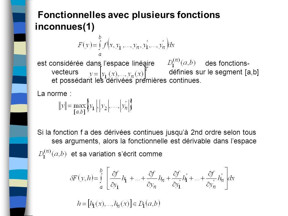 Fonctionnelles avec plusieurs fonctions inconnues(1)