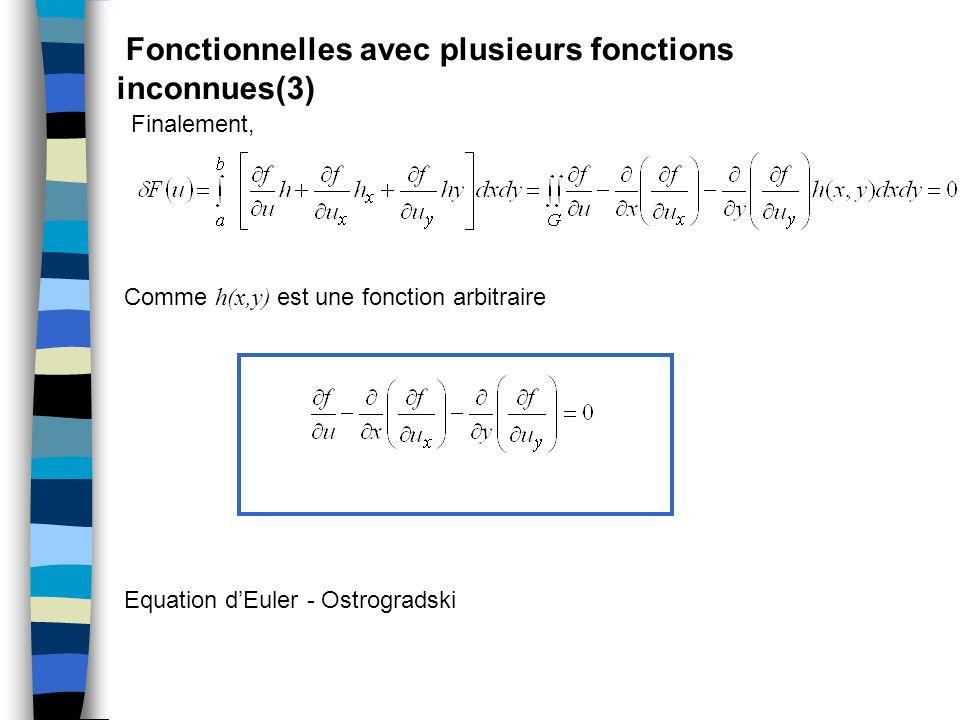 Fonctionnelles avec plusieurs fonctions inconnues(3)