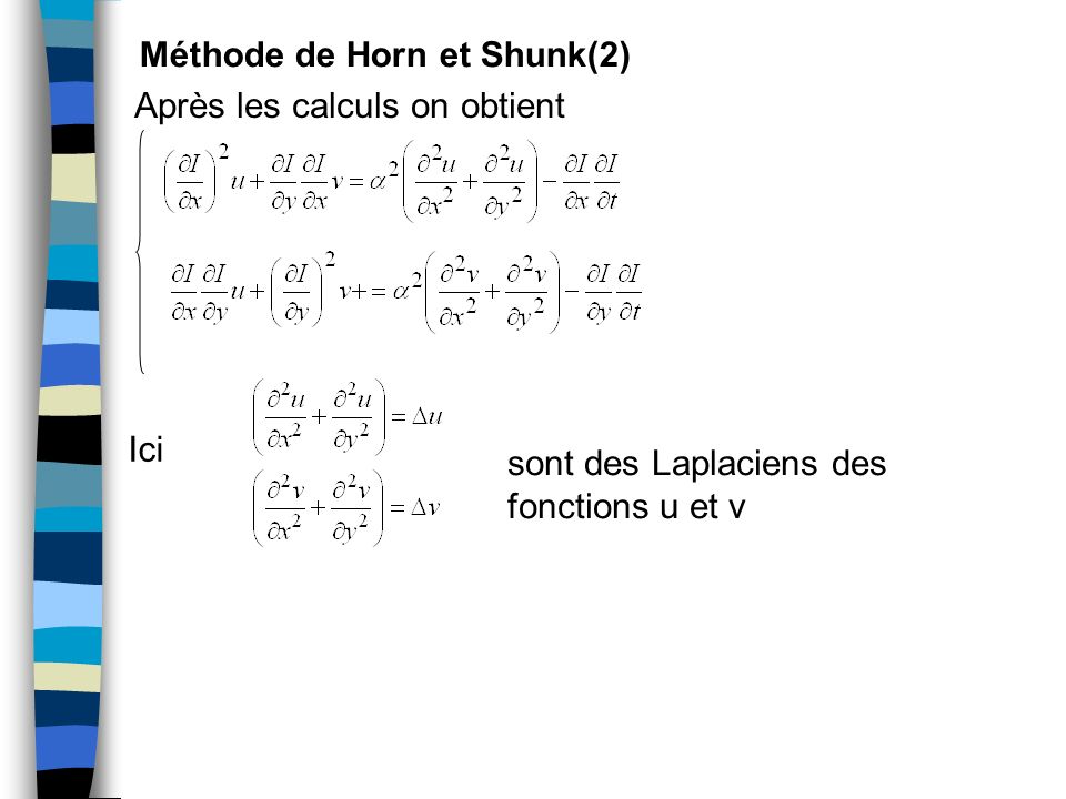 Méthode de Horn et Shunk(2)