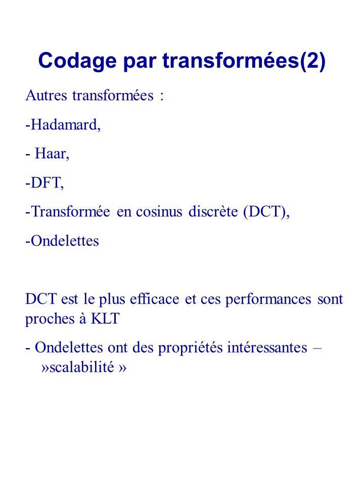 Codage par transformées(2)