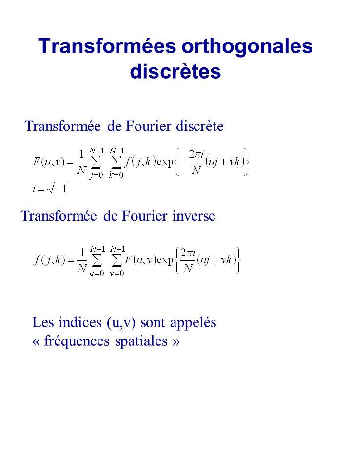 Transformées orthogonales discrètes