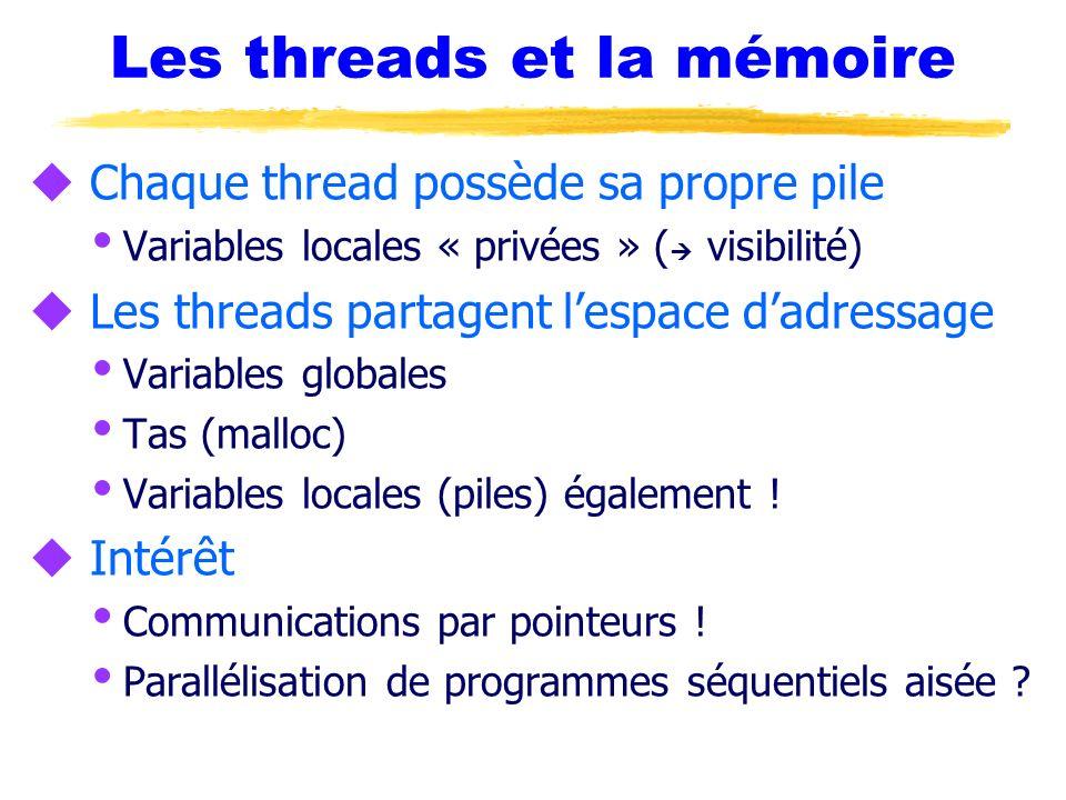 Les threads et la mémoire